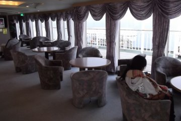 <p>You can enjoy the view from the various lounges</p>