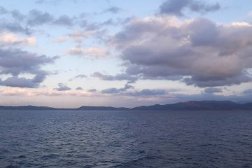 <p>A view from the deck on the way back to Kagoshima</p>
