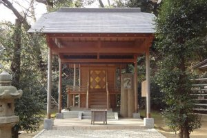 A small shrine along the path.