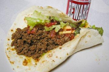 <p>Ground beef taco</p>