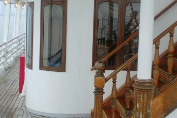 <p>The staircase to the second and third floor.</p>