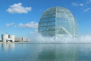 โดมแก้วอันเป็นสัญลักษณ์ของ Tokyo Sea Life Park