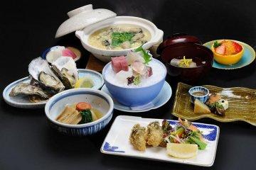 <p>Kanawa Kaiseki Dinner 6,000 yen Course</p>