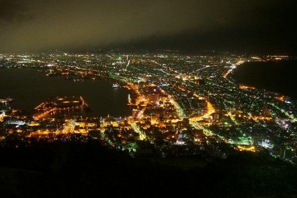 วิวจากยอดเขา Mt.Hakodate ในยามค่ำคืน วิวที่ได้ชื่อว่าเป็นวิวที่สวยเป็นอันดับ 3 ของโลก