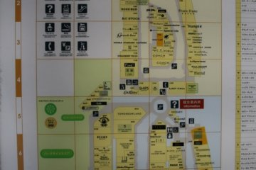 Map of the ground floor shopping