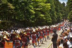 A few of the locals participating in the 1,000-person Samurai procession
