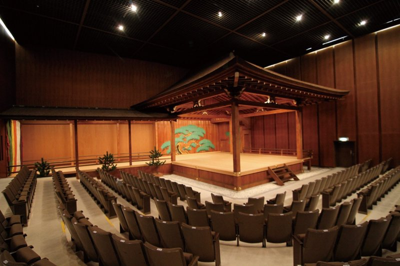 The theater seats 385 people. Experience Noh performance from up close.