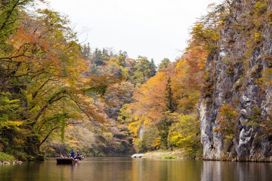 Geibikei Gorge in Autumn