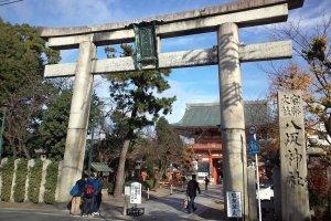 The stone torii