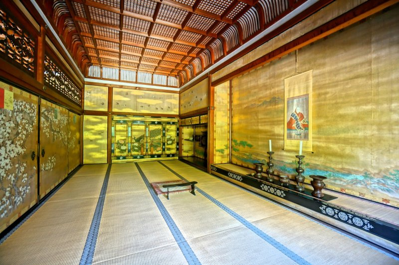 One of the rooms of the Goten in Ninnaji Temple, Kyoto.