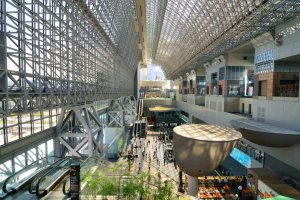 Inside Kyoto Station