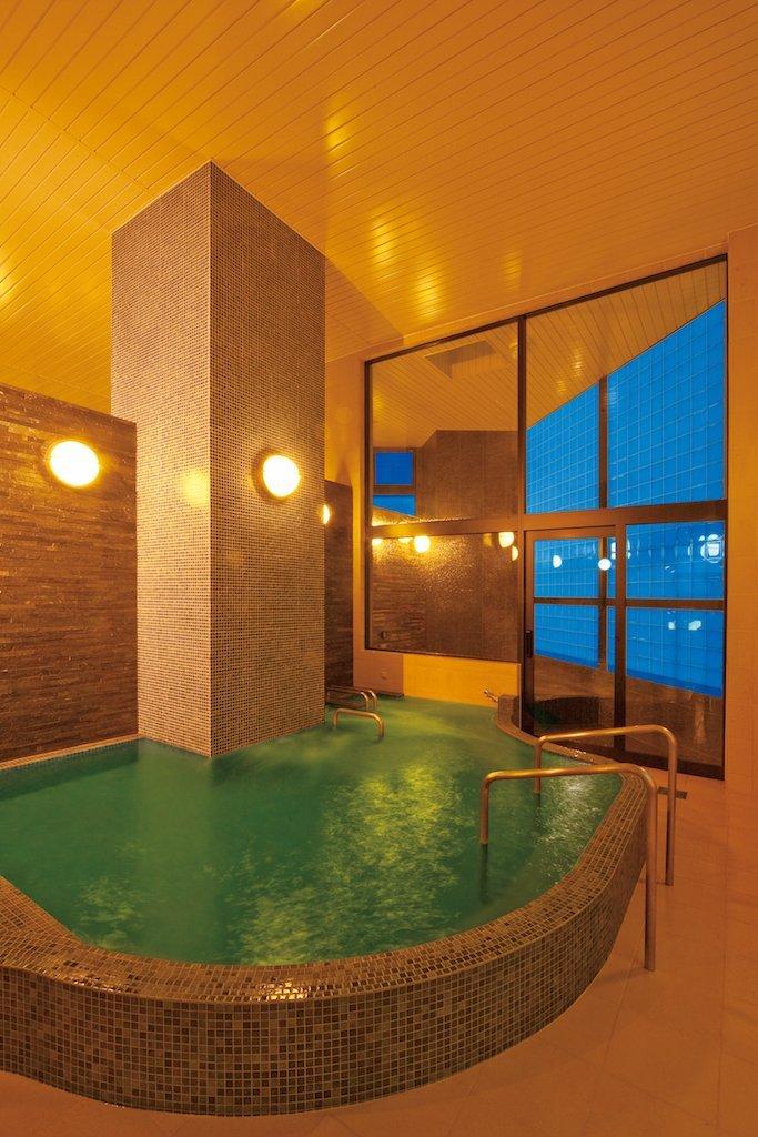 Simple, beautifully tiled public bath